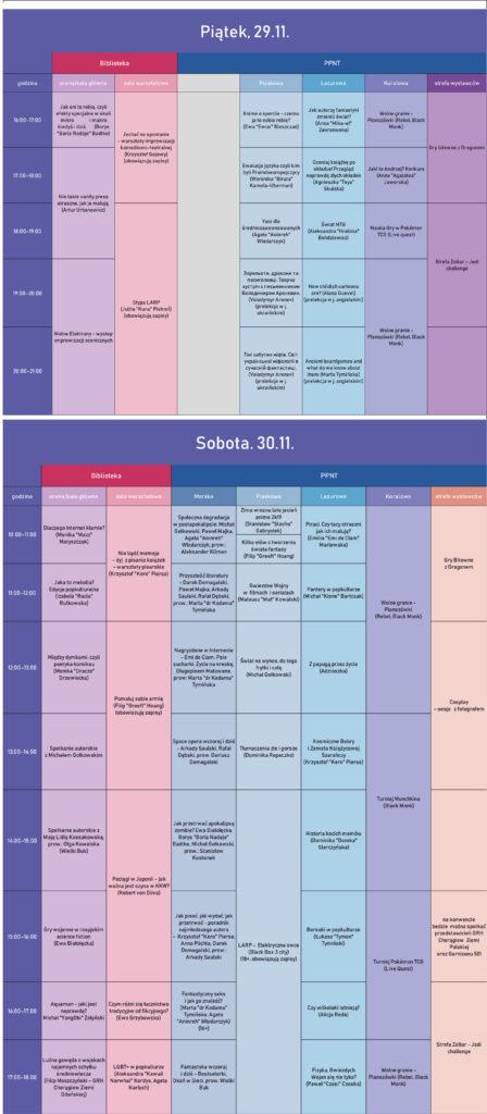 program szczegółowy Pasja MiniCOn 2019